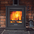 brick surround wood burning stove