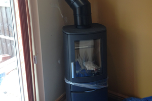 ACR Neo 1 cupboard wood burning Stove install