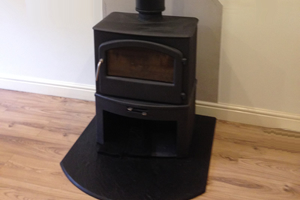 Broseley Serrano with log store wood burning Stove install