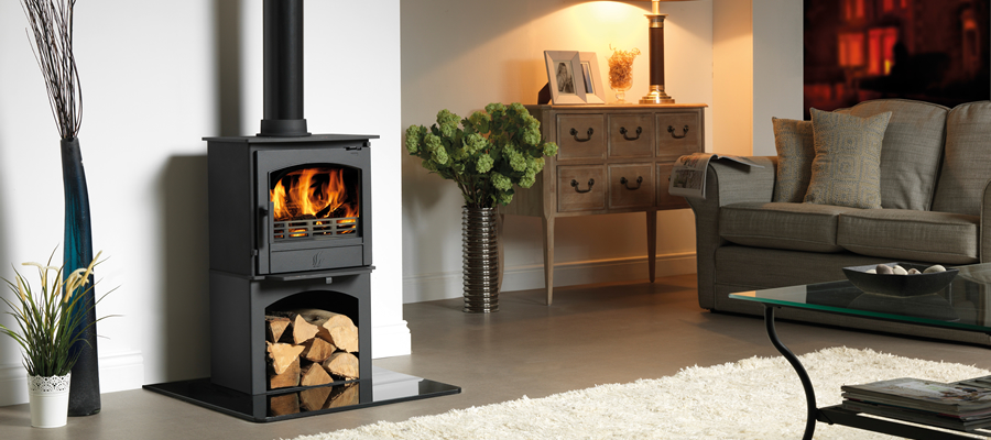 earlswood with log store wood burning stove